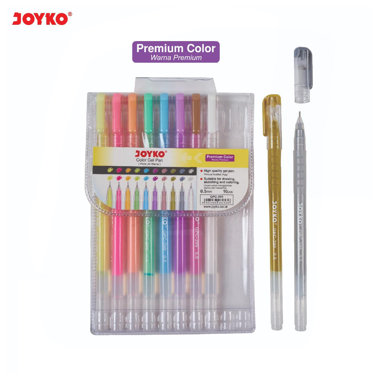 Jual JOYKO Pulpen Premium Color Gel Pen 10 Warna GPC 299