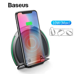 Baseus 10W Qi Wireless Charger Collapsible Multifunction Fast Charging For Samsung S9 S8 IPhone