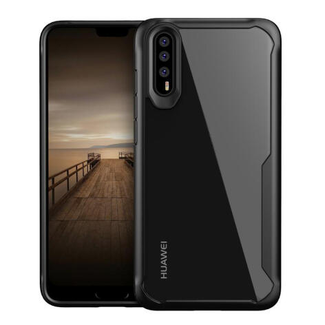 MOONMINI Import TPU Soft Silicone Dropproof Mobile Phone Protection Case for Huawei P20 Black
